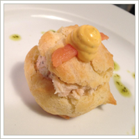 Smoked salmon puff